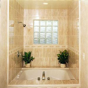 Керамический гранит. Интерьер ванной комнаты.