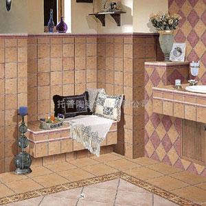 Керамический гранит. Интерьер туалета.