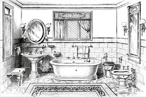 Ванная комната XIX века
